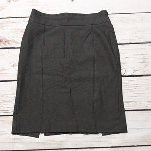 Banana Republic Stretch Sz 4 Gray Pencil Skirt